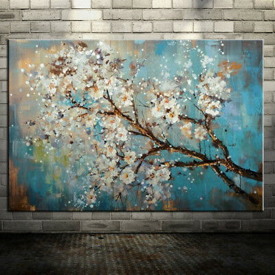 Large 100% Handpainted Flowers Tree Abstract Morden Oil Painting On Canvas Wall