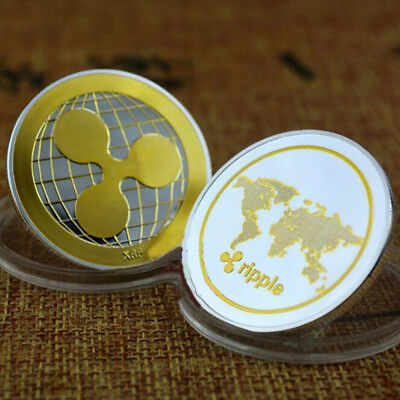 Gold &Silver Ripple coin Commemorative Round Collectors Coin XRP Coin