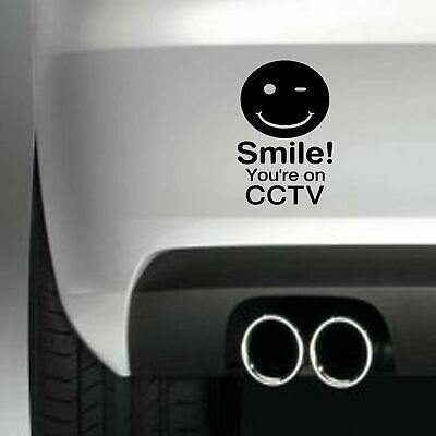 Smile Your On Cctv Car Bumper Sticker Funny Dash Cam Camera Art Decal