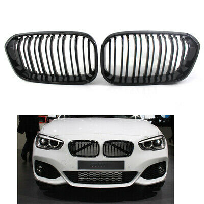 Gloss Black Kidney Grille TWIN SLAT fit for BMW F20 F21 1 Series 15-16 M Look