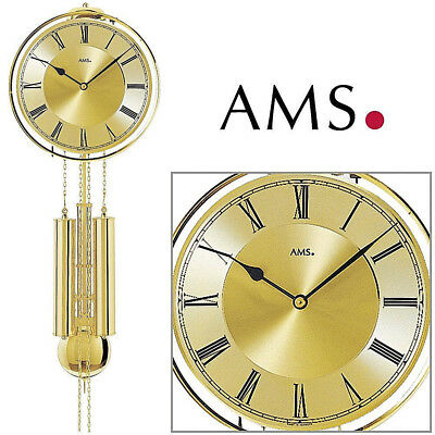 A M S 41 Wall Clock Pendulum Clock,8-Tage Striking Mechanism on Bell Living Room