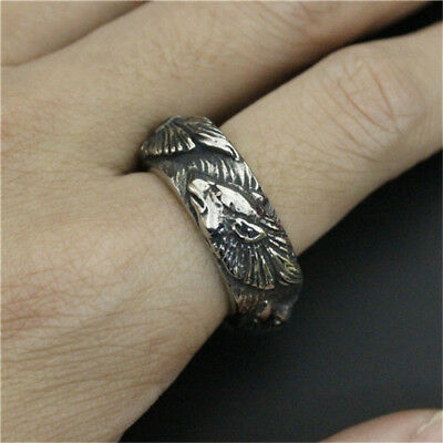Valknut Odin 's wolf Symbol of Norse Viking Warriors silver ring Punk jewelry