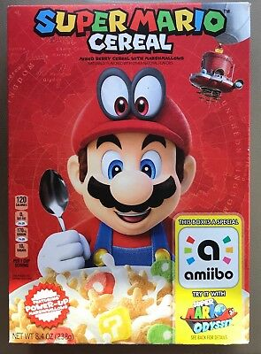 LIMITED EDITION SUPER MARIO CEREAL with amiibo Super Mario Odyssey by Nintendo