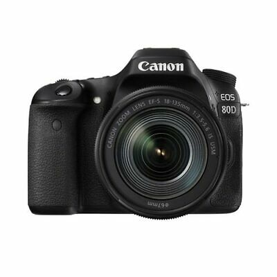Canon EOS 80D DSLR+ EF-S 18-135mm F3.5-5.6 IS USM Lens Kit Multi Ship from US
