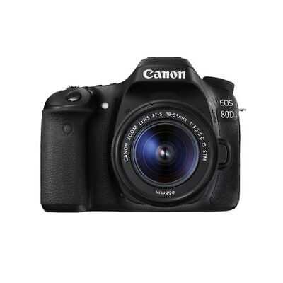 Canon EOS 80D DSLR with EF-S 18-55mm F3.5-5.6 IS STM Kit Multi Ship from US