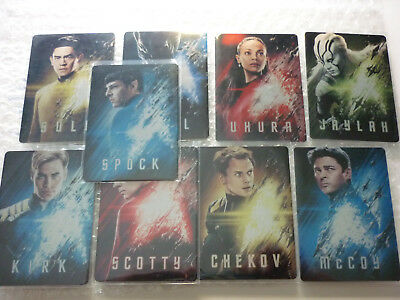 Star Trek Beyond Movie trading cards METAL POSTER 9 card complete insert set.