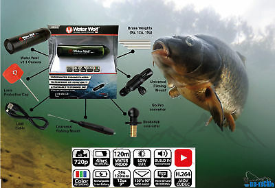 neues WaterWolf 1.1  SET HD Unterwasserkamera Paket Actioncam Water Wolf Camera