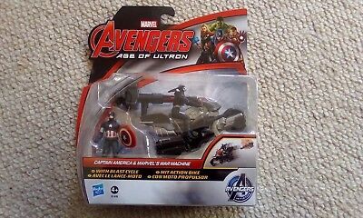 "Marvel Avengers Age Of Ultron 2.5"" Captain America & Marvels War Machine Figures"