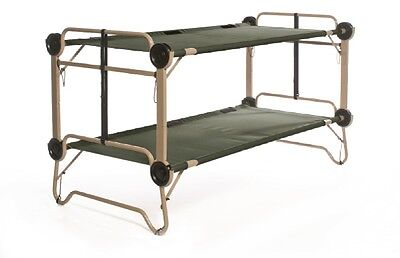 US Army Arm-O-Bunk Military Double Field Cot Double Poles Camp Cot