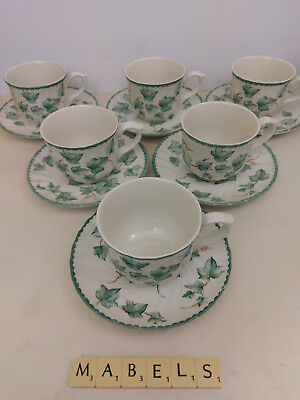 Bhs ~COUNTRY VINE~ cups & saucers x 6