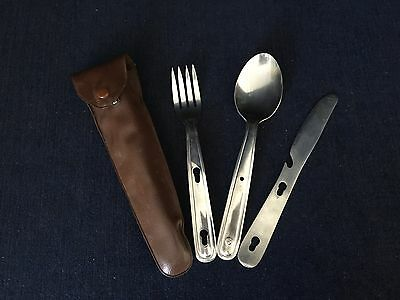 Vintage Stainless Steel 3 In1 Utensils With Plastic Nylon Sheath Best Made Japan