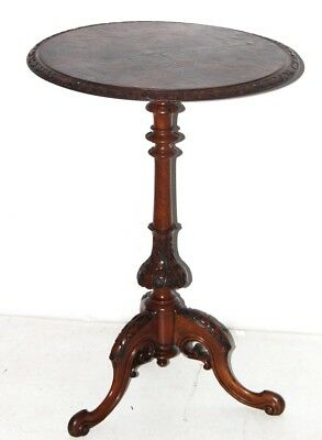 Antique Victorian Carved Walnut Wine Table - FREE Shipping [PL4214]