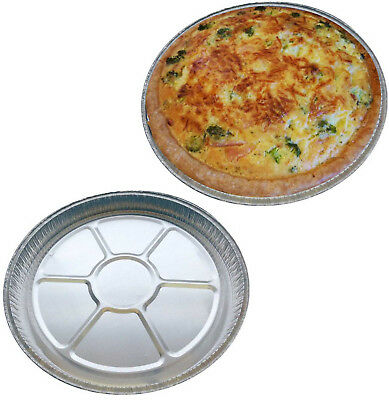 "Foil Pie Dishes Round Aluminium 8"" Dish Pies Quiche Flan Disposable Individual"