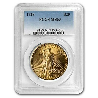 1928 $20 Saint-Gaudens Gold Double Eagle MS-63 PCGS - SKU#8642
