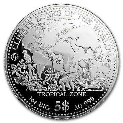 2017 Samoa 1 oz Silver Climate Zones (Tropical Zone) - SKU#156238