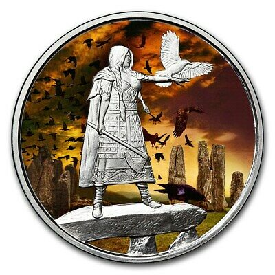 1 oz Silver Colorized Proof Round Celtic Lore (The Morrigan) - SKU#156163