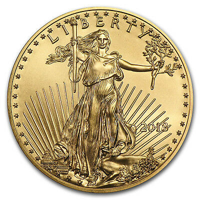 2018 1/4 oz Gold American Eagle BU (w/U.S. Mint Box) - SKU#152745