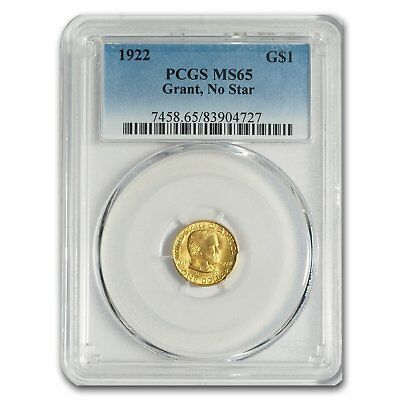 1922 Gold $1.00 Grant MS-65 PCGS (No Star) - SKU#160107