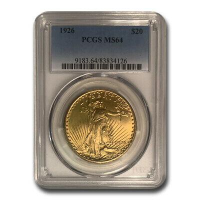 1926 $20 Saint-Gaudens Gold Double Eagle MS-64 PCGS - SKU#23834