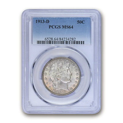 1913-D Barber Half Dollar MS-64 PCGS - SKU#156814