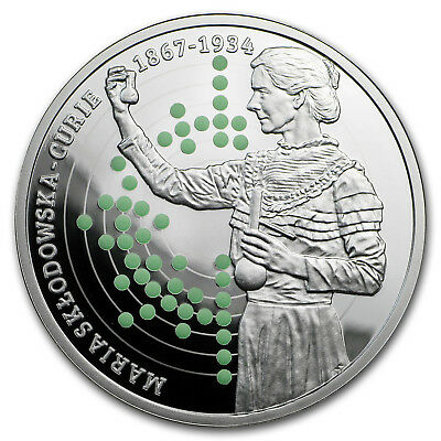 2017 Rep. of Cameroon Silver 150th Anniv Birth of Marie Curie - SKU#157496