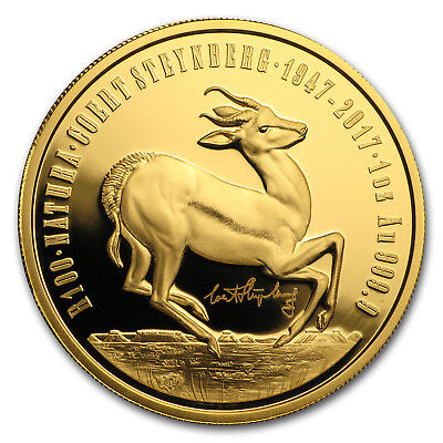 2017 South Africa 1 oz Proof Gold Natura The Springbok Privy Mark - SKU#156070