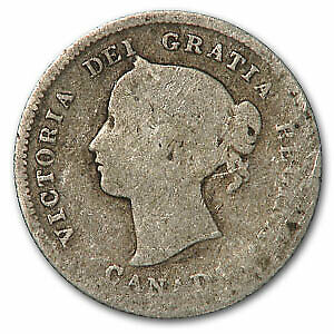 1875-H Canada 5 Cents Silver VG (Small Date) - SKU#48651