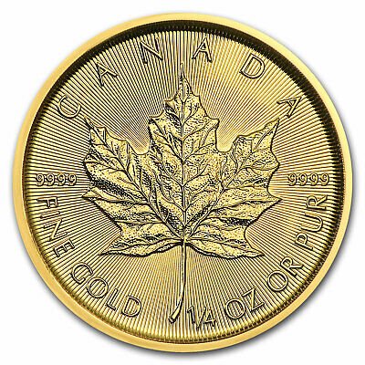 2018 Canada 1/4 oz Gold Maple Leaf BU - SKU#153128