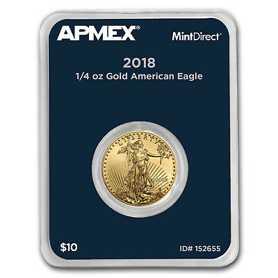 2018 1/4 oz Gold American Eagle (MintDirect® Single) - SKU#152655