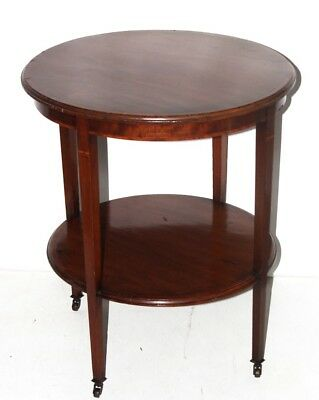 Edwardian Inlaid Mahogany Occasional Table - FREE Shipping [PL4215]