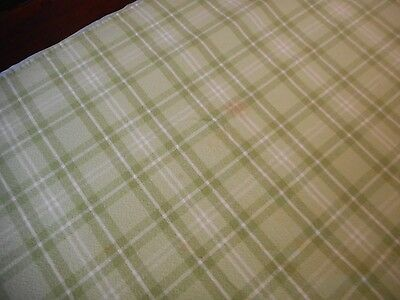 Vintage SHABBY Tablecloth Cottage French Country Primitive Cabin PLAID material