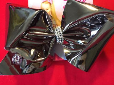 JOJO SIWA Large Metallic Silver with Rhinestone Center Hair Bow - NEW, FREE SHIP