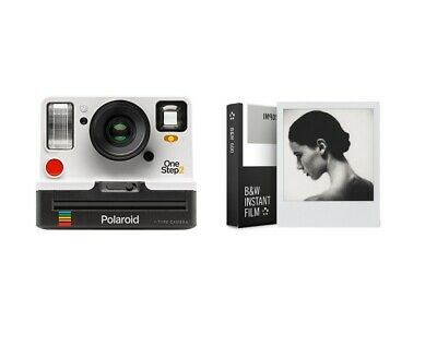 Polaroid OneStep2 i-Type Rechargeable Camera (White) + Impossible  B&W Film