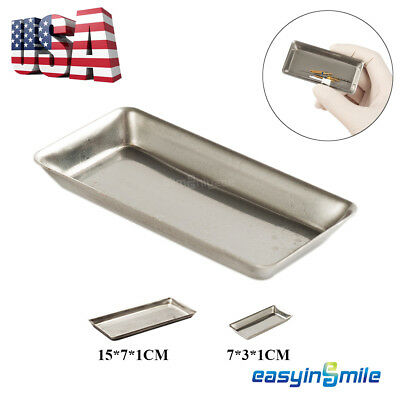 1X EASYINSMILE Dental Medical Tray Stainless Steel Surgical Tray Tools Dish