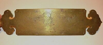 Fine Vintage Chinese Engraved Double Dragon Brass Furniture/Cabinet Hardware