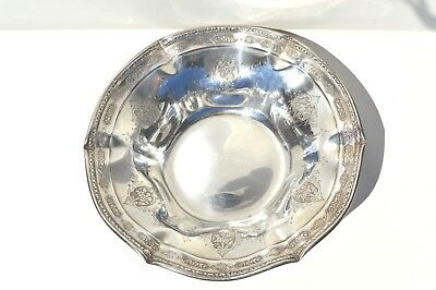 Fine Antique Towle Sterling Silver  Louis Xiv Ruffled Edge Candy Dish/b0Wl 1919