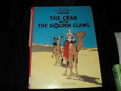 The Adventures Of Tintin - The Crab with The Golden Claws - re printed 1992