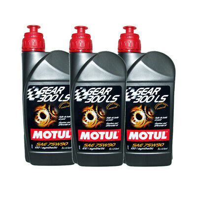 (3 Packs) Motul DSG Transmission Gear 300 LS 75W90 75W-90 100% Synthetic Oil 1L