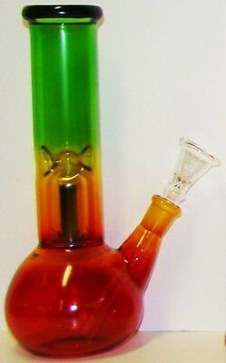 Hookah Water Pipe Bong Glass 8 inch Rasta