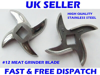 No 12 Meat Mincer Blade Mincer Knife Stainless Steel Salvador Style OEM Quality