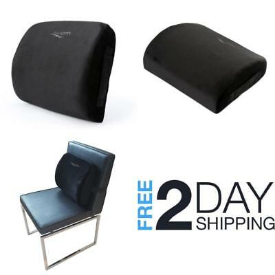 Back Support Pillow Lower Lumbar Cushion Chair Memory Foam Pain Relief Car Seat