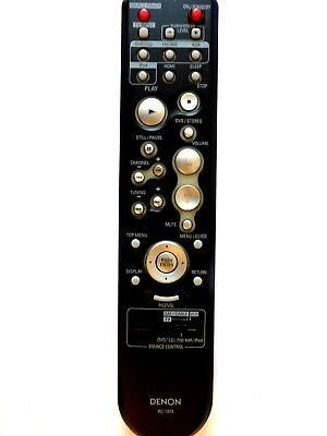 DENON DVD HOME ENTERTAINMENT SYSTEM REMOTE CONTROL RC-1073 for S102