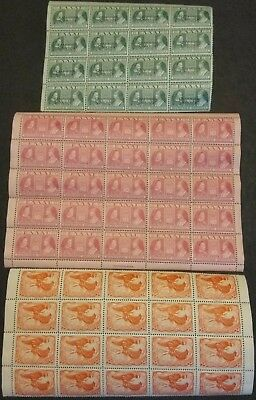 WW2 1939 Greece Greek stamp sheets MNHOG FULL sheet & 2 part sheets w/ overprint