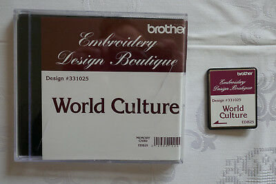 Brother Stickkarte World Culture Embroidery Design Boutique 10 x 10 cm