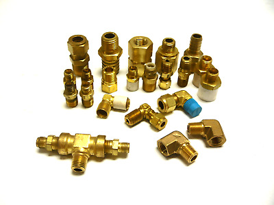 New Lot Of 22 Swagelok Connector Coupling Tee Miscellaneous Lot Brass