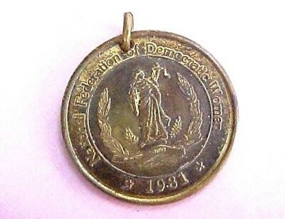 1981 Pendant Medallion Political National Federation of Democratic Women