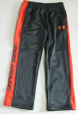 Under Armour Boys Stampede Pants Stealth Gray / Volcano Sz 4 - NWT