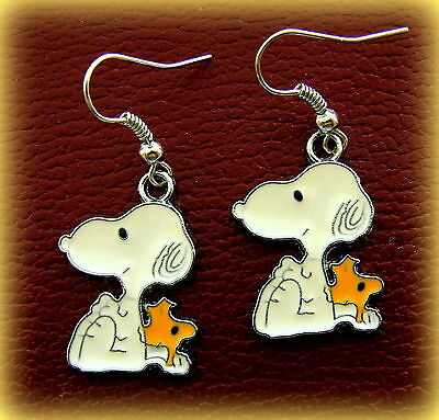"""SNOOPY and WOODSTOCK (the bird) """"Peanuts"""" EARRINGS Jewelry - SNOOPY the Dog"""