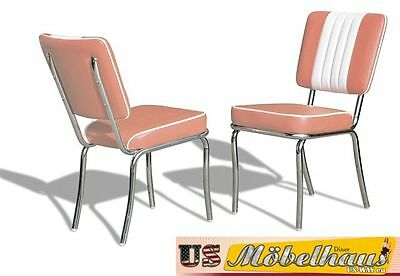 CO-24 Rose Bel Air Furniture 2 Chairs Diner Kitchen in the Style of 50 Piece