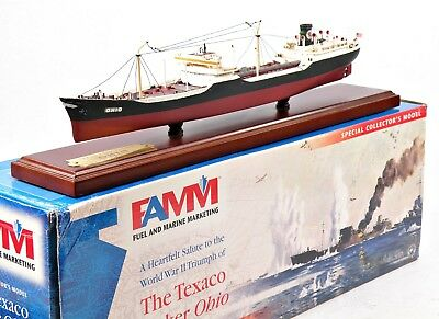 FAMM Fuel/Marine Marketing Texaco Tanker Ohio w/Display Base #02386 Displayed